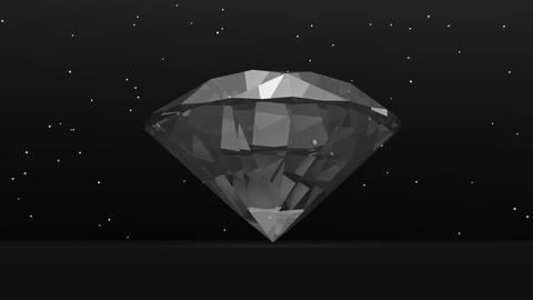 Diamond in the dark - 3D render Stock Video Footage