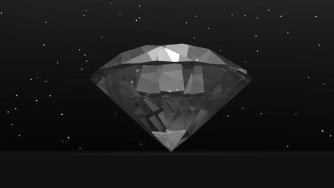 Diamond in the dark - 3D render Animation