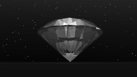 Diamond in the dark - 3D render Stock Video Footage