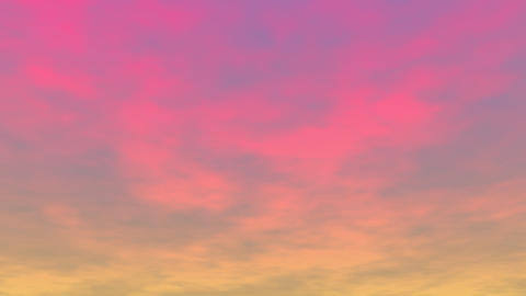 Clouds at sunset - 3D render Stock Video Footage