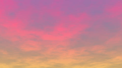 Clouds at sunset - 3D render Animation