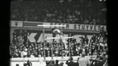1966: Yasuko Furuyama Japan women's uneven bars 16th Artistic Gymnastics World C Footage