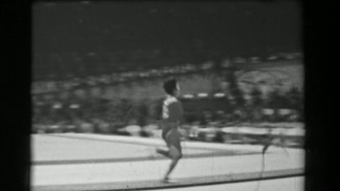 1966: Hiroko Ikenada Japan women's vault 16th Artistic Gymnastics World Champion Live Action