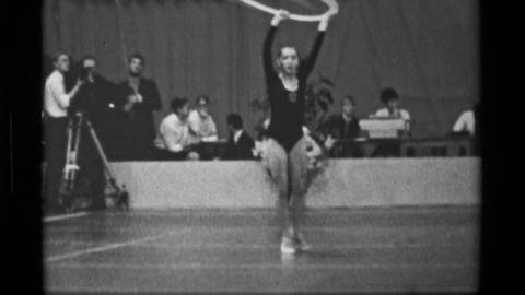 1967: Athlete #36 hula hoop competition 3rd Women's Modern Rhythmic Gymnastics W Live Action