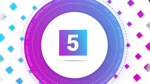 3D Top 10 Package Motion Graphics Template