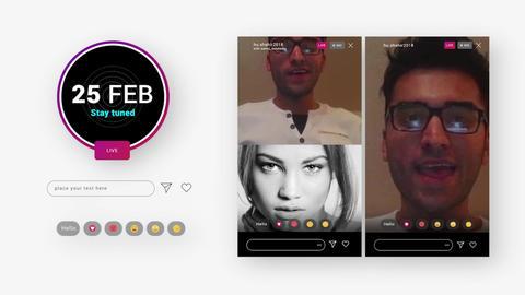 Instagram Live UI Toolkit モーショングラフィックステンプレート