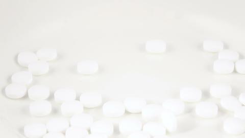 Falling white pills Footage
