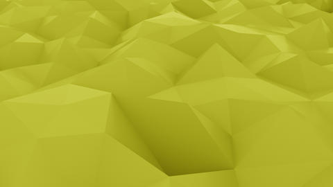 Glossy polygonal yellow surface Live Action