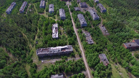 Dilapidated Houses of Dead Town Footage