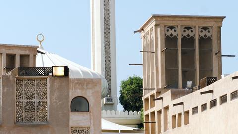 Muslim men pray in a mosque Footage