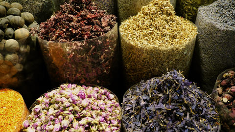 Eastern Market with spices in UAE Live Action