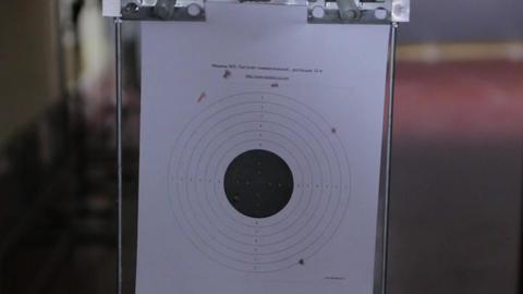 Paper Target In Shooting Range Live Action