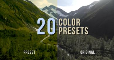 Color Presets Pack Premiere Pro Effect Preset