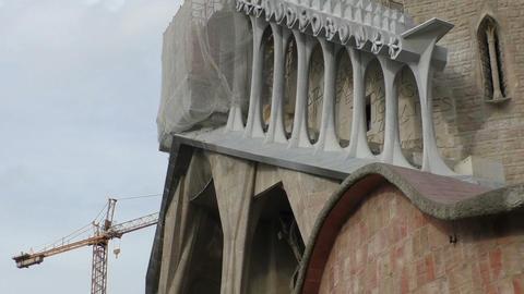 sacred monument 'sagrada familia' Footage