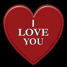 Valentine I LOVE YOU message フォト
