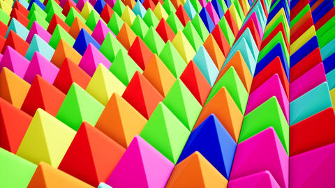 Modern colored pyramids, great design for any purposes. Technology pattern Live Action