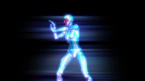 Dancing Female Robot Girl Animation Animation