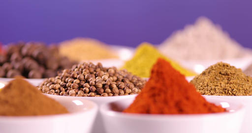 Various spices background Footage