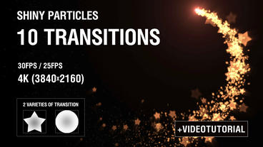 4K Shiny Particles Transition vol 1 After Effects Project