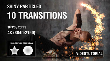 4K Shiny Particles Transition vol 1 After Effects Template