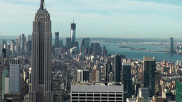 New York 317 overlook from above to South Manhattan Footage