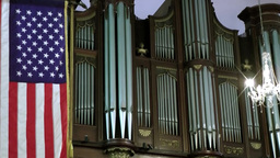 New York 333 Manhattan, the organ in St. Paul's Chapel, Broadway Footage