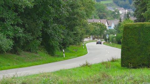 Road of Eisingen village Footage