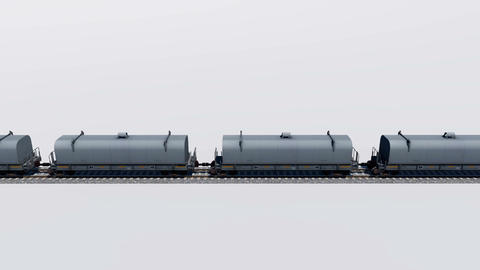 Freight cargo train loopable 3D animation Animation