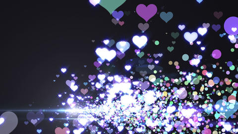 Lens Flares and Particles 16 heart E2 4k Animation