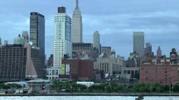 New York 169 Manhattan, Waterfront Buildings west, Hudson River Footage
