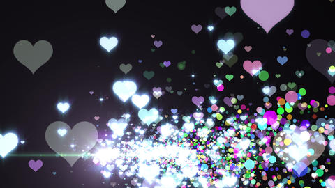 Lens Flares and Particles 16 heart G2 4k Animation