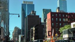 New York 186 Manhattan street view in midtown 8th avenue Footage
