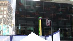 New York 191 Manhattan theater district mirror image of stock ticker Footage