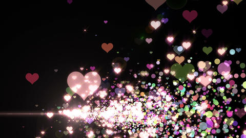 Lens Flares and Particles 16 heart K2 4k Animation
