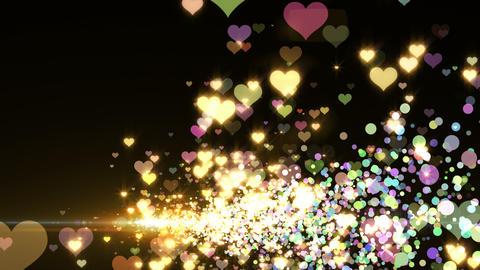Lens Flares and Particles 16 heart L2 4k CG動画