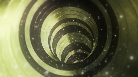 Fantastic Gold Wood Tunnel With Particles Seamless Looping Background Animation