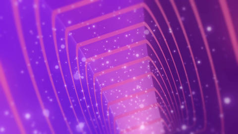 Fantastic Pink Purple Tunnel With Particles Seamless Looping Background Animation