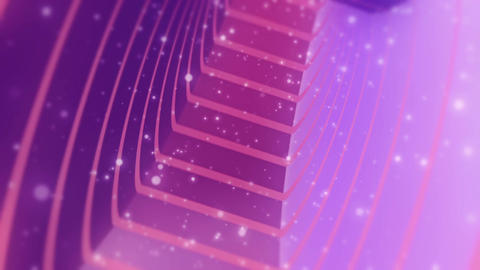 [alt video] Fantastic Pink Purple Tunnel With Particles Seamless...