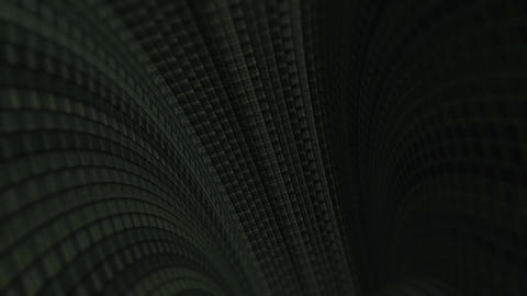 Fantastic Dark Brick Tunnel With Particles Seamless Looping Background Animation