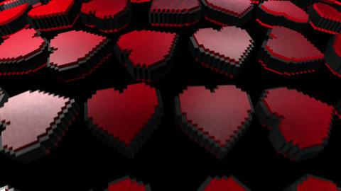 8 bits pixel heart animation. Retro arcade video game Valentine´s Day Animation