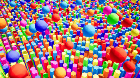 Abstract colorful abstract shapes for wallpaper design. Cartoon motion design Live Action
