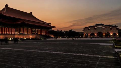 Timelapse of Chiang Kai Shek (CKS) memorial hall in Taipei City, Taiwan, 4k Filmmaterial