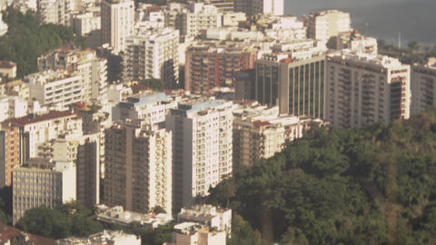 Tilting shot of Rio de Janeiro from lookout Live Action