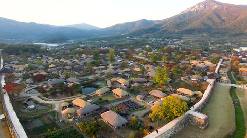 Nakan Eupseong Fortless Traditional Village, Suncheon,... Stock Video Footage