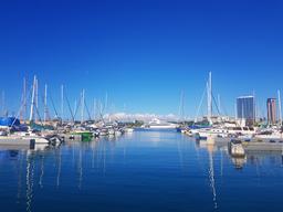 usa hawaii a yacht shipyard フォト