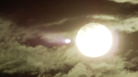 Still shot of the sun behind rolling storm clouds in Rio de Janeiro Footage