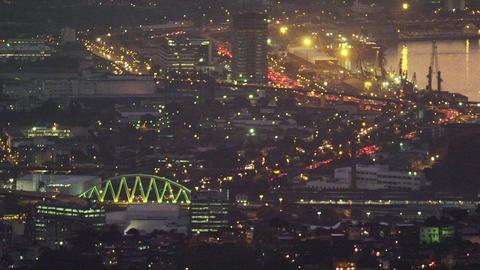 High-angle night footage of Rio de Janeiro Footage