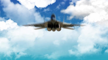Jet Plane Fly through Sky Clouds Dynamic Business Logo Reveal Intro Animation After Effects Project