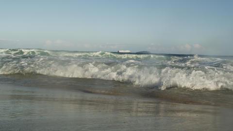Static shot of Atlantic surf engulfing camera Footage