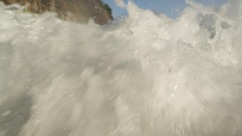 Beach perspective of tide Footage